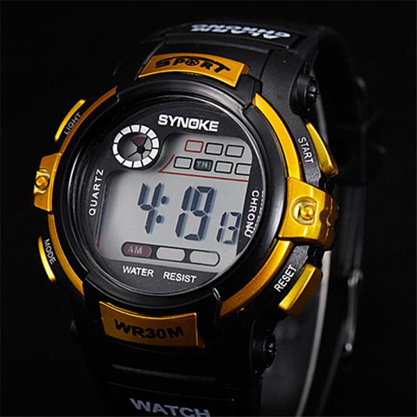 Мужские светодиодные цифровые часы 30 M Водонепроницаемые детские электронные часы Спортивные часы на открытом воздухе для мультфильмов Мальчики