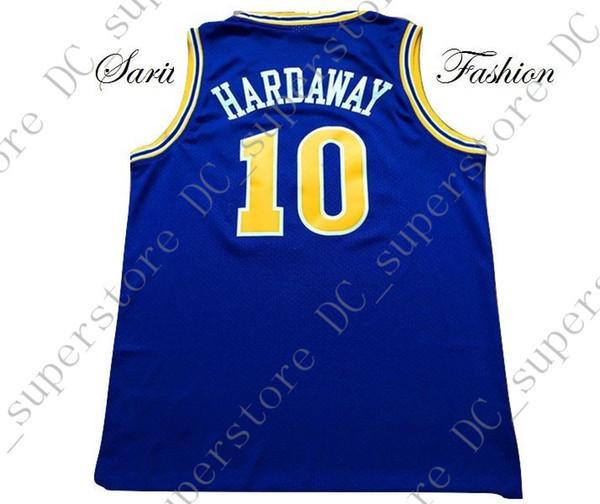 Cheap custom Tim Hardaway Retro Basketball Jersey #10 Blue Stitched Customize any name number MEN WOMEN YOUTH JERSEY XS-5XL