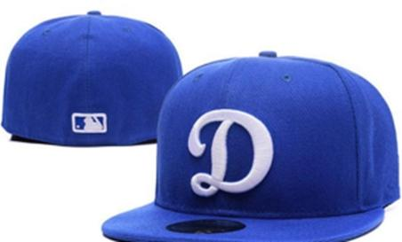 High Quality LA On Field Style Baseball Fitted Hats Sport Big D letter Team Logo Embroidery Full Closed Caps Out Door Fashion Bones