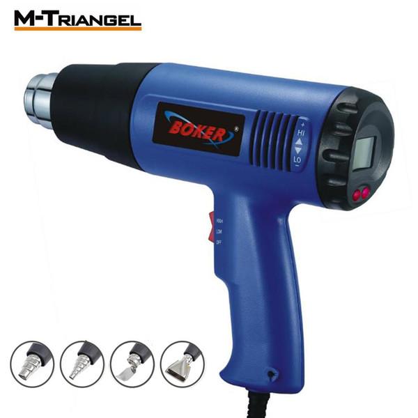 Pistola ad aria calda elettrica UE 2000 W 220 V Termoregolatore Pistole termiche Display LCD Termoretraibile Attrezzo termico termico Pistola termoretraibile