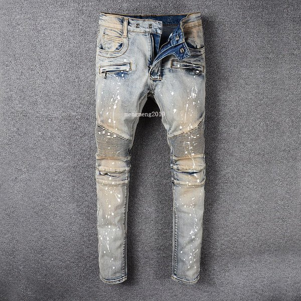 2019 nuovi jeans nuovi uomini di moda semplici leggeri jeans estivi Mens di grandi dimensioni moda casual solido classico jeans denim dritto designer