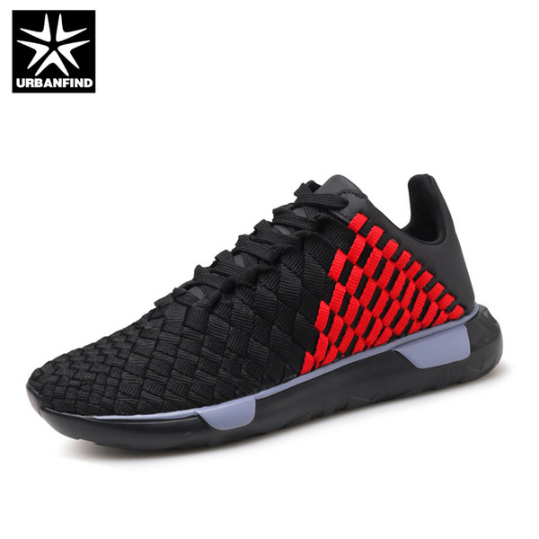 URBANFIND Fashion Sneakers Men Casual Shoes Male Spring Summer Footwear Size 39-44 Checkered Design Boy Leisure Lace-up Shoes