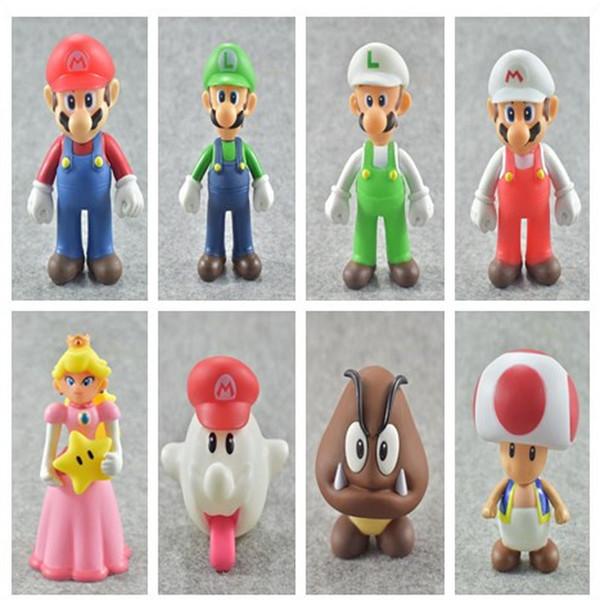 Yüksek Kalite Yeni Süper Mario Bros Prenses Mario Luigi Hayalet Action Figure Oyuncak Çocuk hediyeleri 12cm için