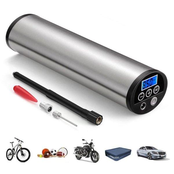 Şarj edilebilir Elektrikli Bisiklet Pompası Araba MTB Bisiklet Şişme Hava Pompası Lastik Lastik 150 PSI Mini LCD Ekranlı Bisikletler için pompaları