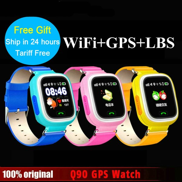 SOS GPS watch Q720 smart baby kids phone watch Touch Screen GPS WIFI Positioning Location Finder Device Anti Lost Monitor