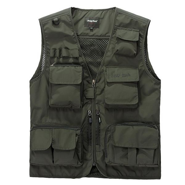 2019 новый летний жилет мужчины повседневная легкая тонкая сетка с несколькими карманами жилет мужской свободный бренд мужской жилет