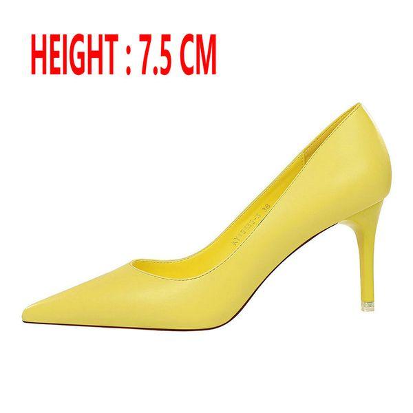 Sarı Topuk 7.5 CM