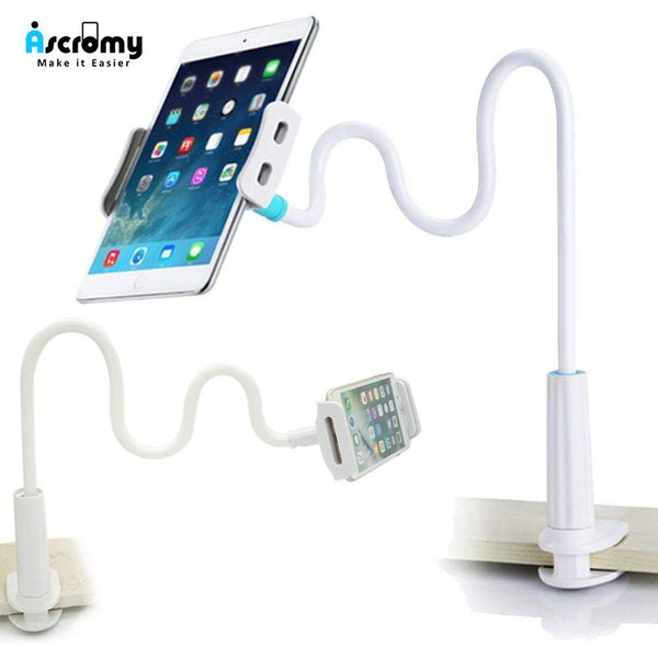 Ascromy Gooseneck Tablet Stand Holder Adjustable Mount For Pro 10.5 Ipad Mini Air New Iphone 8 Plus 7 Long Arm Bed Support J190507