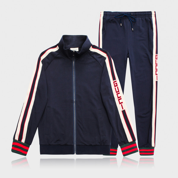 M-3XL Mens Designer Tracksuits Black White Zipper Jackets Pants Letter with Label Tag Casual Suits Running Fashion Sets Autumn Kits