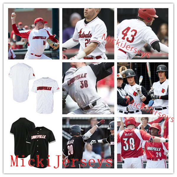 new product e00c1 f43c7 2019 Mens Custom Louisville Cardinals Baseball Jersey Corey Ray Nick Solak  Drew Harrington Adam Elliott Ben Bianco Zeke Pinkham Lucas Dunn Jersey From  ...