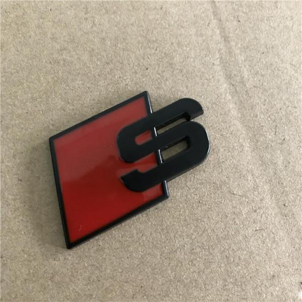 Auto styinY 3D S Logo Sline Emblem Abzeichen Auto Aufkleber Rot Schwarz Vorne Hinten Kofferraum Tür Seite Fit Für Audi Quattro VW TT SQ5 S6 S7 A4 Zubehör