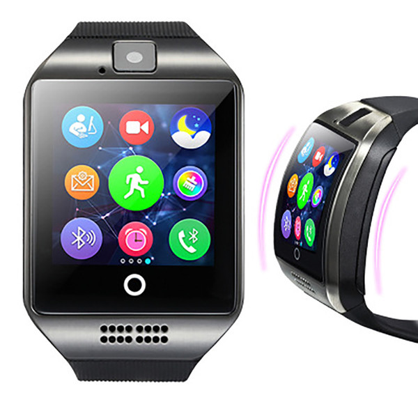 Q18 smart watch Bluetooth smart watch ios Android phone support SIM card camera answering phone smart wearable device