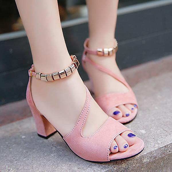 lindos zapatos procesos de tintura meticulosos mejor online Compre Tacones Bajos Mujer Bombea Tacones Zapatos Para Mujer Hebilla Correa  Zapatos Mujer 2019 Nueva Fiesta Sexy Boda Peep Toe Negro Zapatos Mujer A ...
