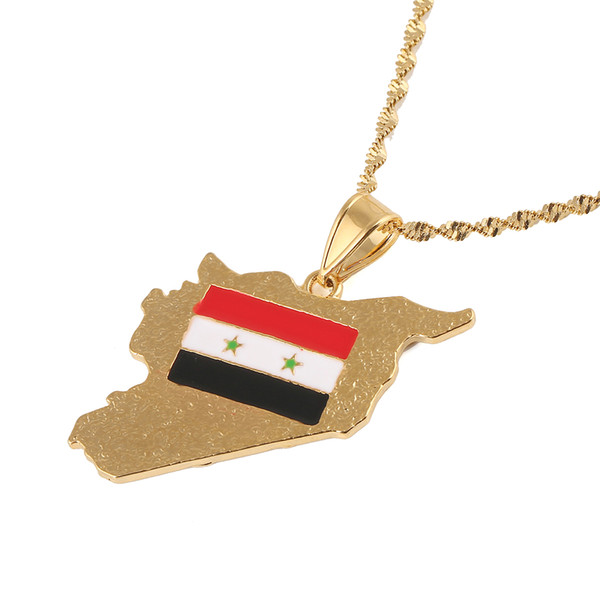 syria arabic country name map pendant necklaces charm syrians maps jewelry gifts - from $5.90