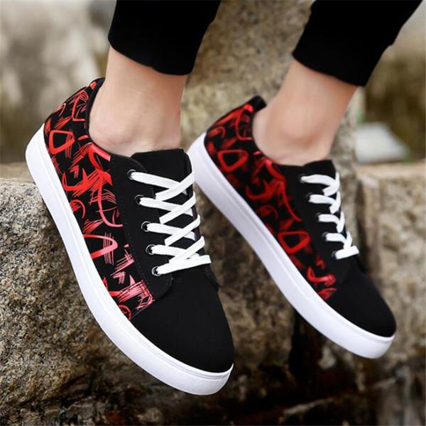 Primavera y verano nuevos zapatos de moda para hombre zapatos de lona casuales X145