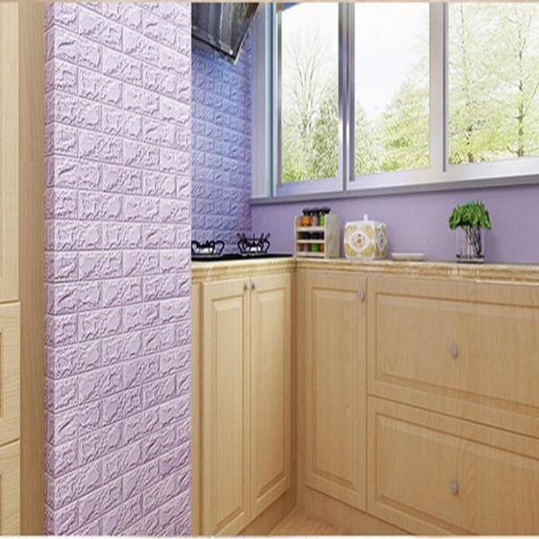 2019 новое поступление PE пены 3D стикеры стены обои DIY кирпич камень декор стены гостиная детская спальня современный стиль декоративные наклейки