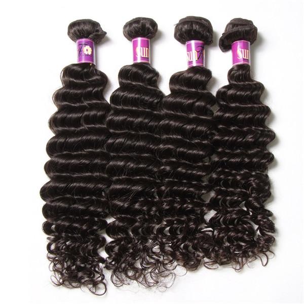 50% Perfect 4 bundles Indian Deep Wave Human Hair 10-28inch Cheap Indian Hair Extensions 100 Natural Human Hair Deep Wave Wavy Weaves Weft