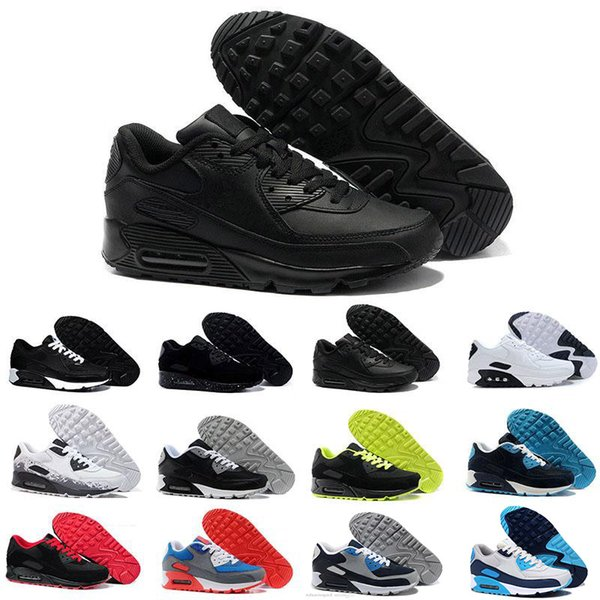 2019 Original Classique des années 90 noir blanc jaune pour Hommes Femmes vente chaude Running Shoes Mens 90 mode luxe hommes femmes sandales designer chaussures