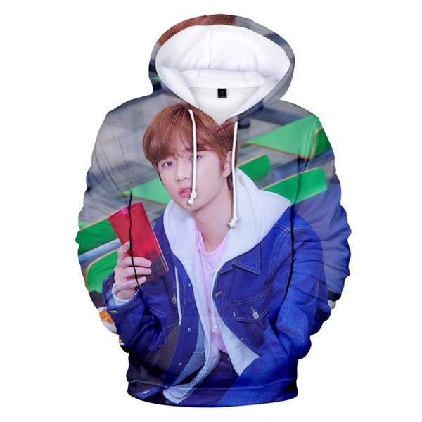 New 3D Character TXT Hoodies Pop Idol Music Team Young Men Women Sweatshirts Casual Streetwear Chic Simple Outwear Cool Clothing