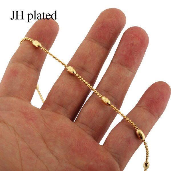 JHplated African Trendy Gold Necklaces length 45cm fashion Women Men give friends and good sisters Jewelry Gift Valentine's gift