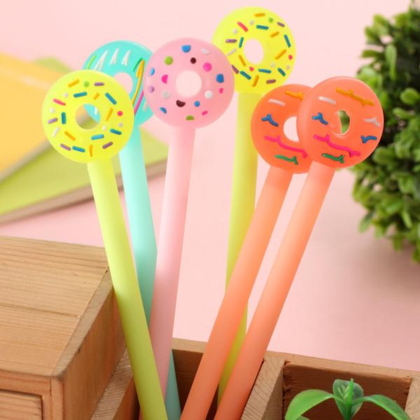 Koreanische kreatives Briefpapier Cute Cartoon Donut kleine frische Gelschreiber Candy Farbe 0,38 mm schwarzen Stift