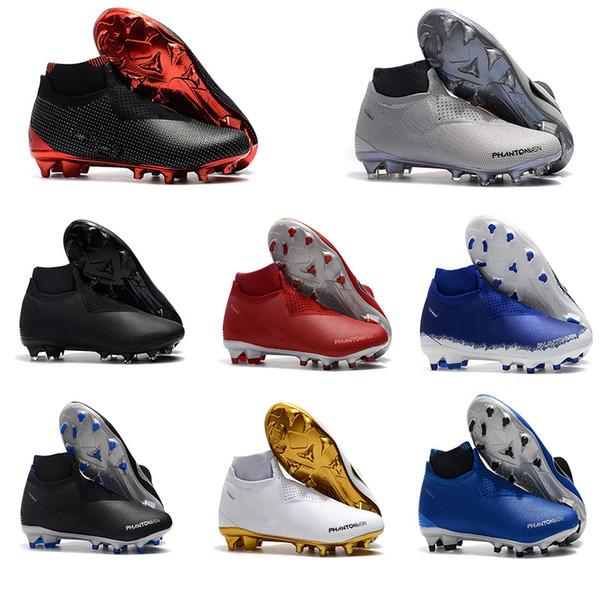 9203f4b698a4d Nova Preto Vermelho Fantasma Visão Elite DF FG Chuteiras De Futebol De  Futebol Sapatos de Futebol