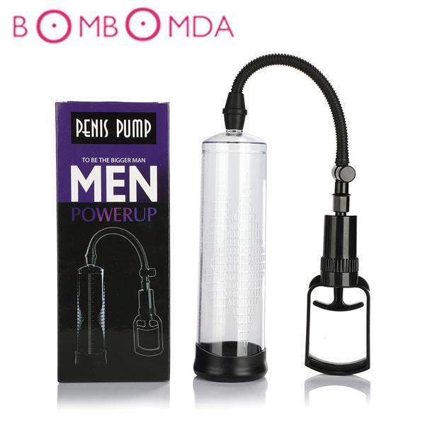 Penis Pump Vibrator sex toys for adults Sex Shop Male Masturbator Delayed Lasting Trainer Penis Extender Erotic vibrator For Men D19011105