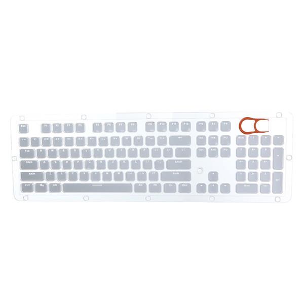 Kiraz MX Klavye Anahtarı Oyun Klavye Arkadan aydınlatmalı klavye tuşları Teclado Gamer için Şeffaf Double Shot Kristal 104 KeyCaps Arkadan aydınlatmalı