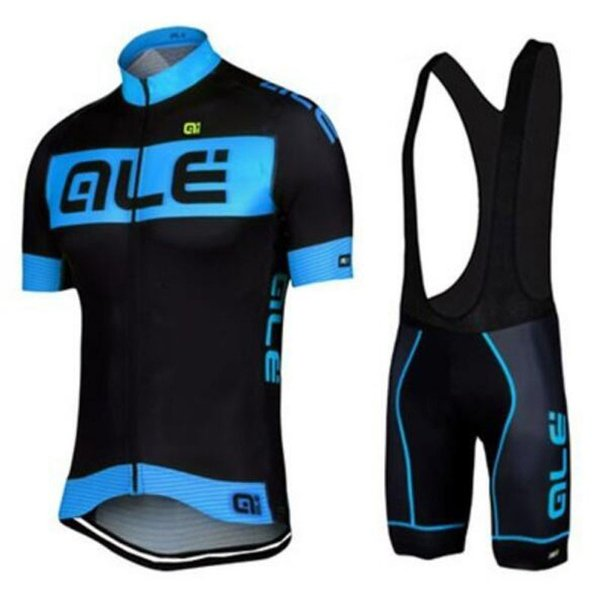 Ale team Cycling Short Sleeves jersey bib shorts sets 2019 summer new Gel Padded Mtb Sport Quick Dry Ropa Ciclismo
