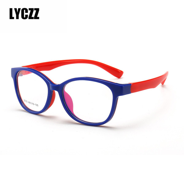 LYCZZ Optical Flexible Super Light Kids frames eyewear Optical glasses for kids Child clear eyeglass TR90 Silicone Boys girls