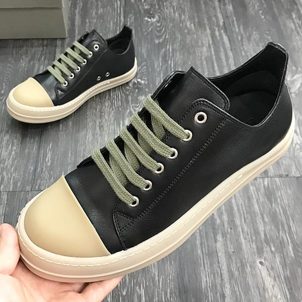 2018 American luxury brand fashion designer men's sports shoes calfskin leather casual shoes high quality lace men's lace micro-standard qw