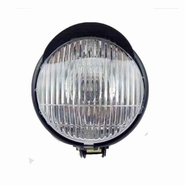 """5.5"""" Motorcycle Headlight For Cruiser Chopper Cafe Racer Bobber Custom Black Head Lamp"""