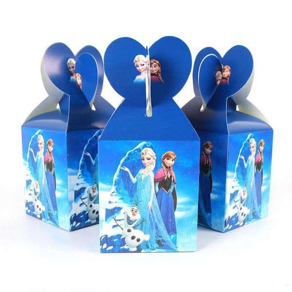 30 unids / lote Party Paper Candy Box Kids Birthday Baby Shower Supply Girls Birthday Decor J190706