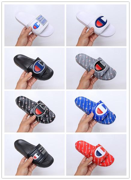 Champ 2019 Flip Flops Fashion Slippers Men Women Summer man black Beach Slipper Casual Sandals Best Quality Cheap Scuffs Shoes Size 36-45