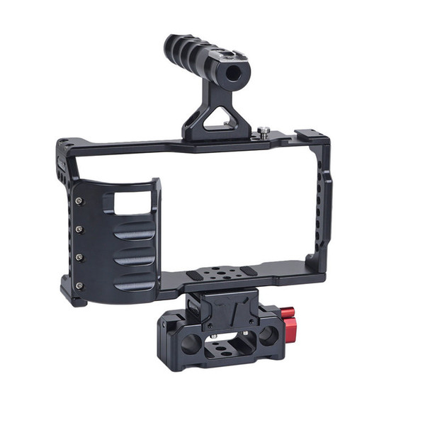 CAME-TV BMPCC 4K Basic Cage With Grip And Rod Base For BlackMagic Pocket Cinema Camera (BMPCC2-A04)