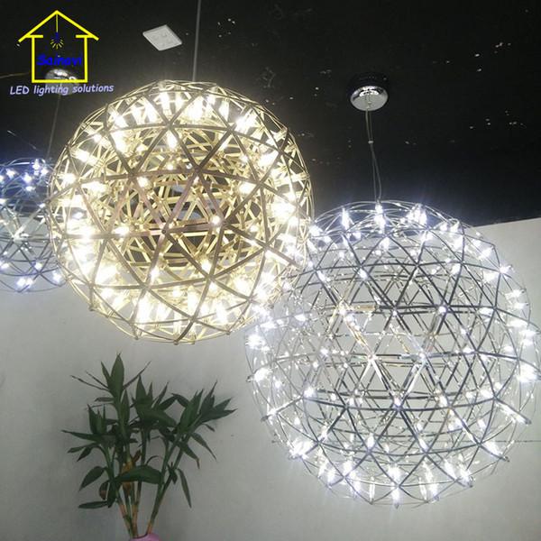 Piezas / kit Accesorios de iluminación colgante de acero inoxidable LED Lámpara de fuegos artificiales Bola Raimond Restaurante Lamparas Lustre 110-240V