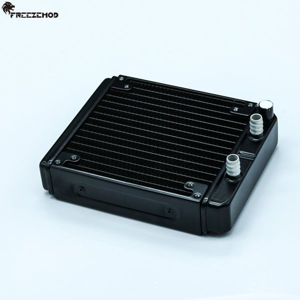 FREEZEMOD 140mm fin aluminium computer water discharge liquid heat exchanger radiator for 12cm/14cm fan. SR-L140F10