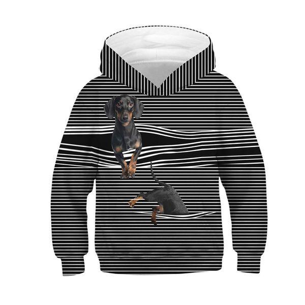 2d810b705 CHAMSGEND Black ColorTeen Kids Girl Boy Print Cartoon Sweatshirt Pocket Pullover  Hoodie Machine Cold Water Wash