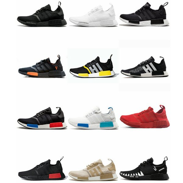NMD R1 Mens Running Shoes Trovão Militar BRANCO Oreo Atmos Tri-Color Homens Mulheres Mastermind Japan Sports DNM XR1 Formadores Sneakers pharrell