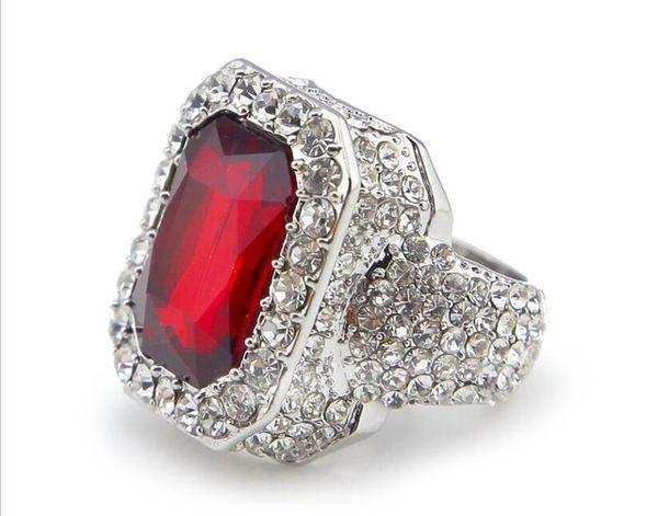 серебряный красный рубин