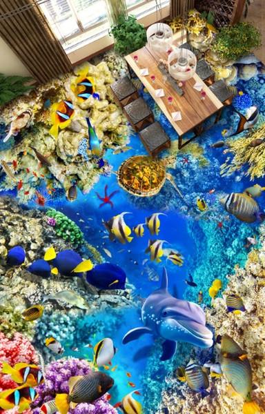[Autoadhesivo] 3D Underwater World 4518 Floor Wallpaper Mural Wall Print Decal Murales de pared