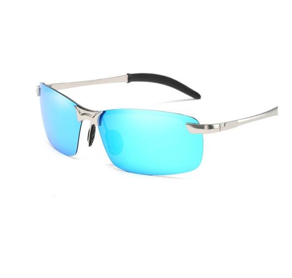 Марка Алюминий Магний Мужские Солнцезащитные Очки Поляризованные Солнцезащитные Очки Мужчины Вождение Рыбалка Очки Аксессуары óculos de sol masculino