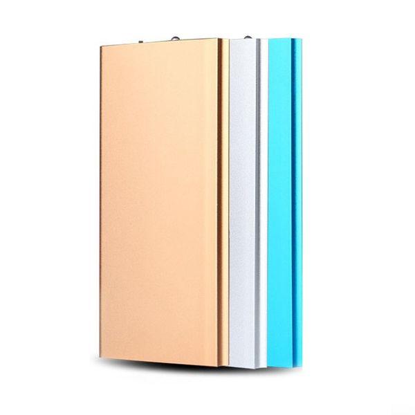 Portable Ultra-thin Polymer Power Bank High Capacity 20000mAh Powerbank Fast External Battery Charging For Xiaomi Huawei iPhone