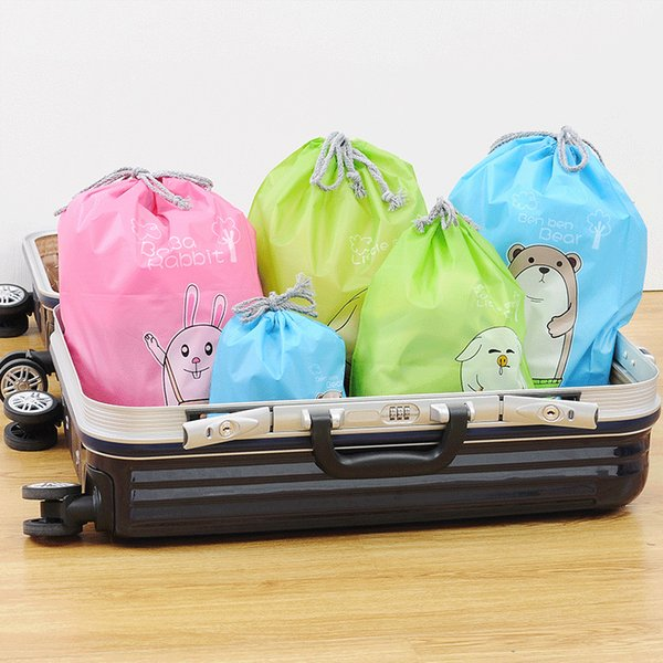 waterproof clothing shoes bundle pocket, washing and drawing rope, bag, travel environment-friendly bag