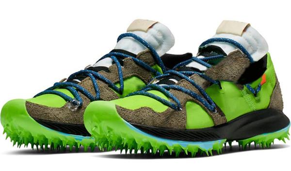 2019 Hot Authentic OFF Zoom Terra Kiger 5 Мужская женская спортивная обувь Черный Белый Зеленый Спортсмен в прогрессе CD8179-300 кроссовки с коробкой