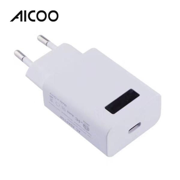AICOO PD Charger Universal Fast Charge QC3.0 2.0 Tipo de interfaz de salida-c 3A 2A Carga directa de un solo puerto para iPhone Android OPP