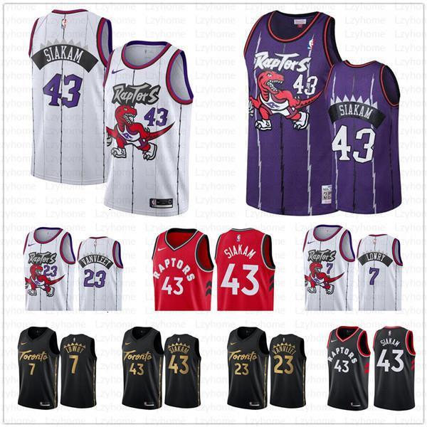 best selling New Toronto Pascal 43 Siakam Vince 15 Carter Tracy 1 McGrady Raptors Jersey Kawhi 2 Leonard Kyle 7 Lowry 23 VanVleet Basketball Jerseys Fri