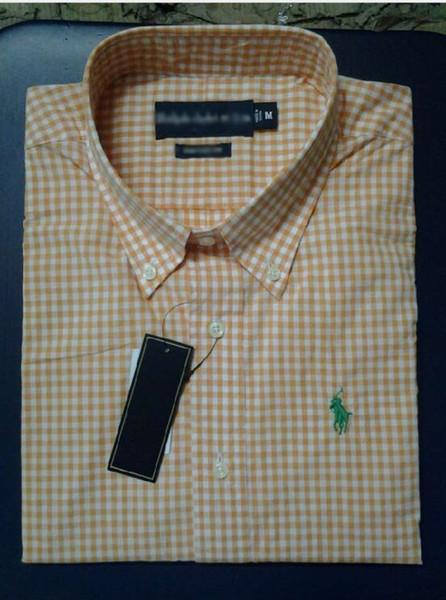 2019 yeni stil erkekler gömlek ralph polo lauren marka gömlek pamuk en kaliteli erkek tasarımcı iş Gömlek tops logo oyalamak eğlence bluz