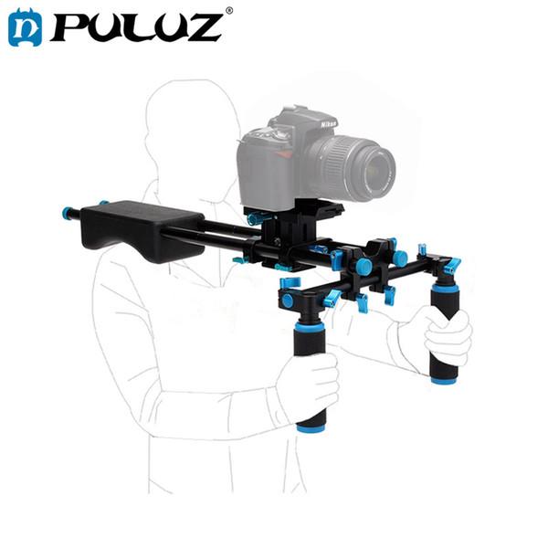 PULUZ DSLR Rig Dual Griffe Kostenloser Kamera-Schulterbefestigungssatz für DSLR-Kameras Video-Camcorder