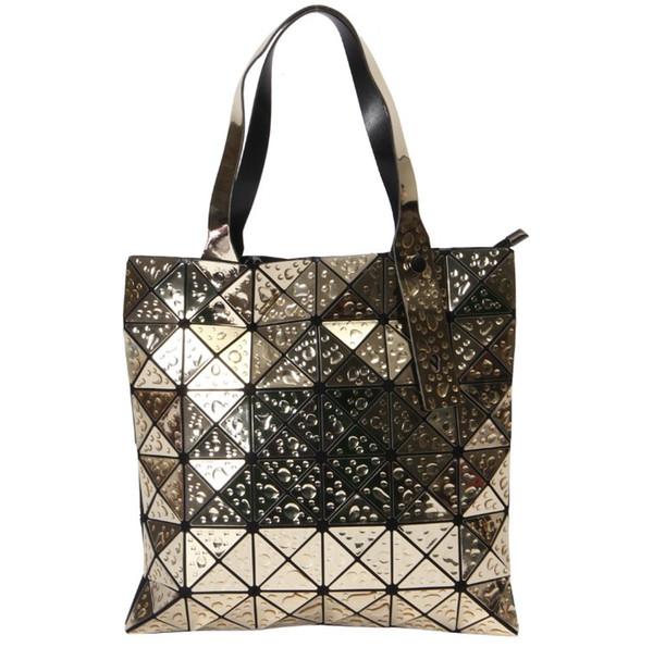 Women Geometric Sequin Laser Fashion Handbag Female Laptop Book Bag School Casual Rucksack Travel Daypack Women Shoulder bags